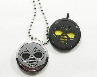 Bee Diffuser Necklace - Honeybee - Save the Bees - Stainless Steel