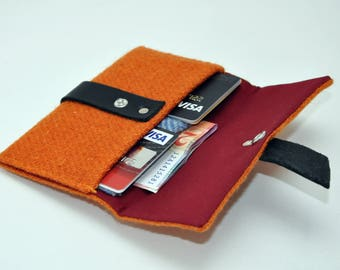 HARRIS TWEED wallet /purse  - London Collection (FREE Embossing)