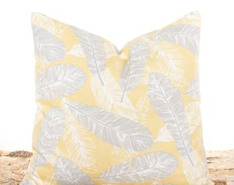 SALE ENDS SOON Bird Pillow Cover, Yellow Feathers Throw Pillow, Sofa Cushion, Yellow Pillowcases, Saffron Yellow Pillows, Bed Pillows