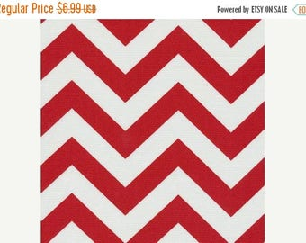 SALE - Red Chevron Outdoor Fabric - Zig Zag Cherry Outdoor Fabric - Fabric by the 1/2 yard - Ships Same Day