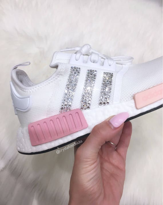uk availability a2d8b eddfa ... adidas nmd runner made with swarovski® xirius rose crystals white pink  icy pink