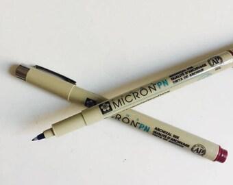 Pigma Micron Pen Brown .20mm Size 005