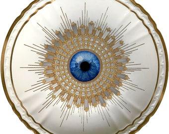 Firenze Burst - Eye - Vintage Porcelain Plate - Limoges - #0566