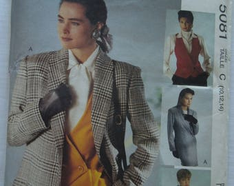 McCalls Sew News 5081, sizes 10-14, lined jackets and lined vests, UNCUT sewing pattern, craft supplies