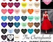 The CHERRYBOMB Ponte de Roma Stretch Knit FABRIC SWATCH, Custom Handmade to Order Bridesmaid Party Dresses