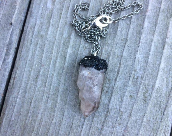 Tiny BT Quartz Necklace