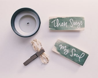 Wood Magnet Set - Hymns, watercolor. Free Shipping!
