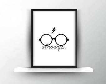 Harry Potter | Always + Glasses + Scar | Digital Download