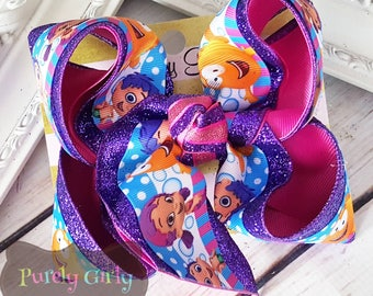 Bubble Guppies Hair Bow Large Exlarge Bubble Guppies Hairbow