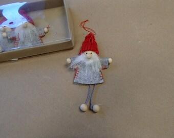 Scandinavian Santa Elf Gnome Ornaments Box of 4  #902