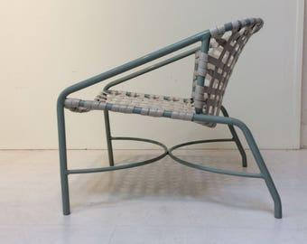 Pair of vintage brown Jordan lounge chairs