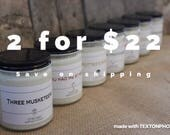 Bundle Buy - 2 (8oz) Candles for  22.  Pick flavors from description and put in comments to order.