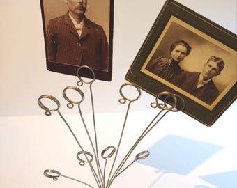 Vintage Wire Photo Card Display