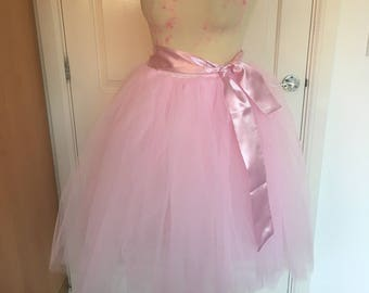 Baby pink tulle tutu skirt size small