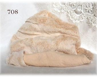 MATT Italian Viscose Plush Fabric Fur Hand Dyed Colour (708) 8-9 mm pile 1/8 m teddy bear making supplies