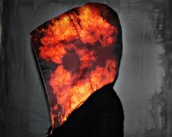 INFERNO // Custom Organic Cotton Hood