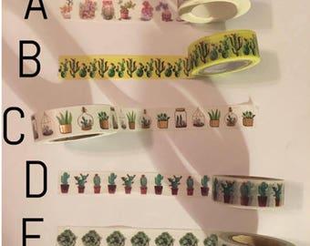 Washi Tape Sample: Plants #1