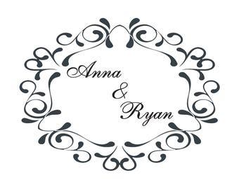 Custom Logo Design / Wedding Branding / Gobo Light Projection Logo / Wedding Logo / Wedding Monogram