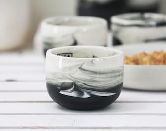 Ceramic espresso cup. Black and white marble.unique coffee mug,Modern Espresso Cups, christmas gift guide,unique gift,Housewarming gift.