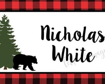 Lumberjack Personalized Calling Card