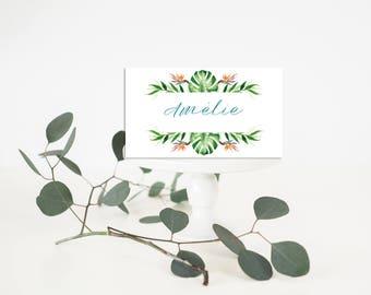 Tropical Wedding Place-Card - Wedding Place-Card - Exotic wedding Place-Card - Tropical Place-Card - Tropical Wedding - Tropical Table