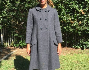 Joanna Jr Couture Gray Wool coat size 2,4