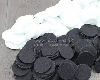 """2"""" White Or Black Felt Circles, Felt Circles"""
