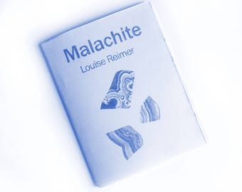 Malachite Risograph folded zine Blue
