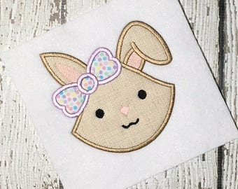 Bunny Applique Design - Rabbit Applique Design - Easter Applique Design