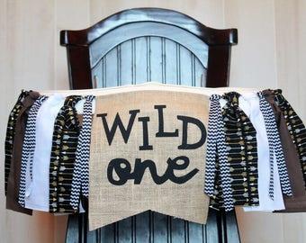 Wild One Birthday Garland, Wild One High Chair Banner, High Chair Banner Boy
