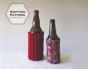Knitting Pattern | Beer Sleeve Beverage Insulator| ELIXIR