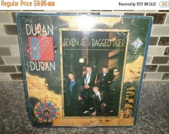 Save 30% Today 1983 Vintage Duran Duran LP Record Seven and the Ragged Tiger Very Good Condition 5747