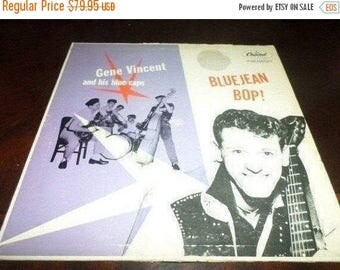 Save 30% Today Scarce 1957 Vinyl LP Record Bluejean Bop! Gene Vincent and His Blue Caps Good Condition Capitol Records T764 597