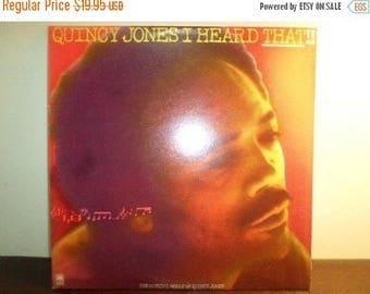 Save 30% Today Vintage 1976 Vinyl LP Jazz/Funk Record I Heard That!! Quincy Jones Near Mint Condition 8936