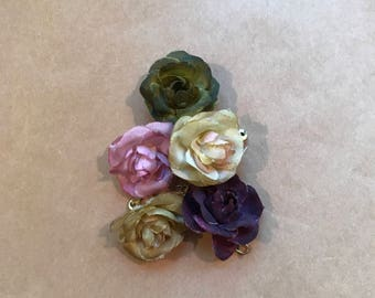 Vintage Cloth Mlliner Flowers