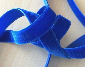 pretty blue velvet Ribbon 024
