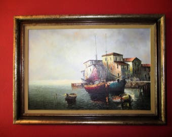 Harbor Painting by Guenther