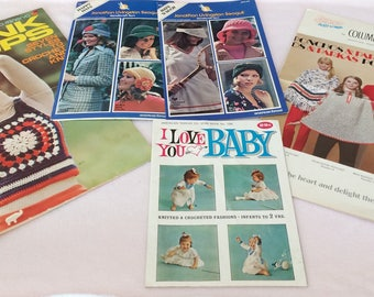 Vintage  Set of (5) 1970's Leaflets by American Thread, Jonathan Livingston Seagull and Columbia Minerva Collectible