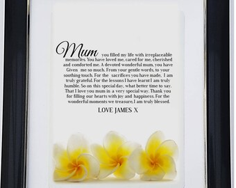 Personalised Mother Framed Poem - A Mum to Cherish