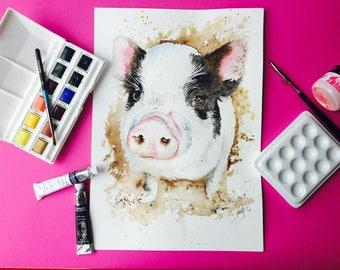 This Little Piggy - Original Artwork A4