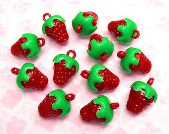 1 x Strawberry kawaii 20mm