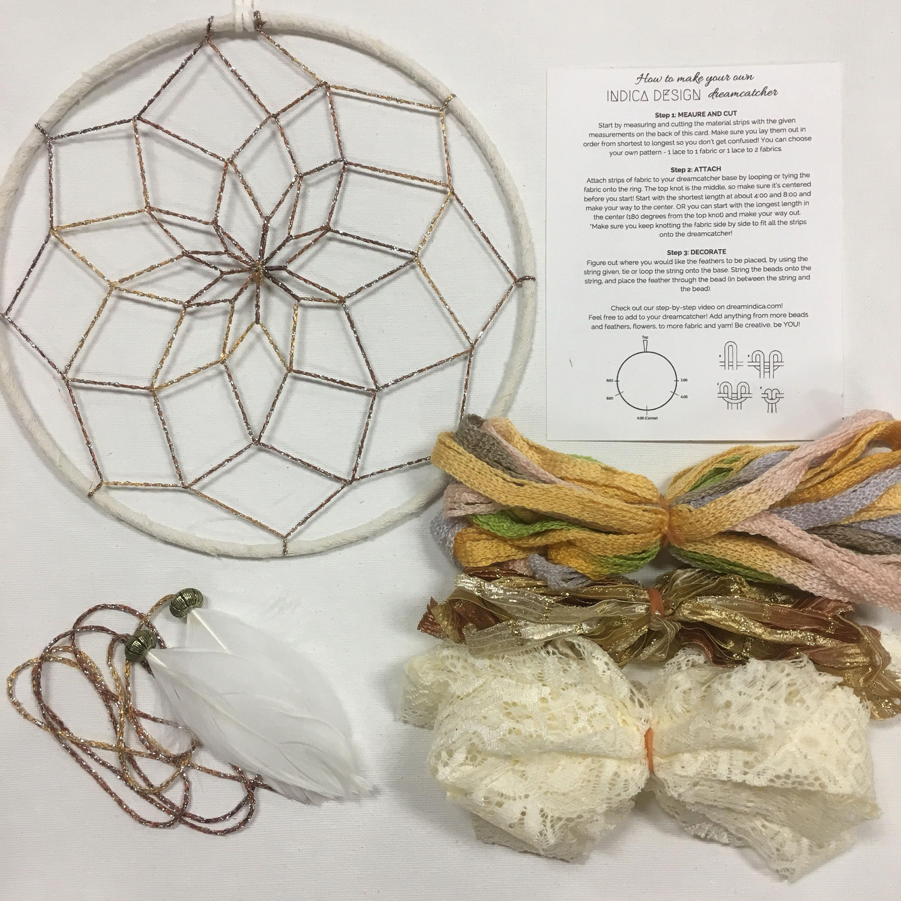 Can Dream Catchers Get Full Tahiti Sunrise DIY Dream Catcher kit 17
