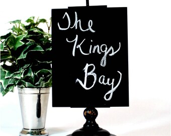 Cute Arrow Pointing Kitchen or Desk Sign with Chalkboard