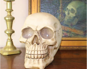Big LED Lighted Red Eyes Skull Gothic Evil Fun Sculpture