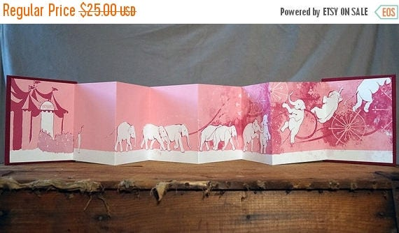 "ON SALE Silkscreen Hand-bound Book ""Ringling"" White, 1st Edition"