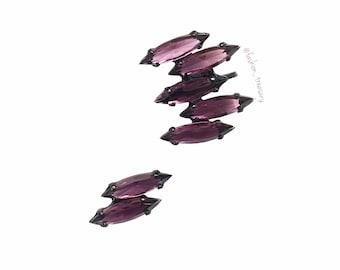 Crystal Purple Ear Cuff, Crystal earrings, Bridal earrings, Wedding earrings, Swarovski Earrings, Climbing Earrings, Trendy Earcuff
