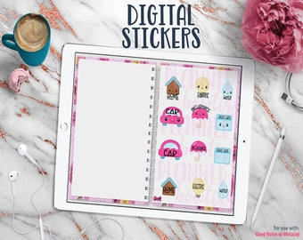Digital Planner Stickers for Digital Planner with Working Tabs | Bills