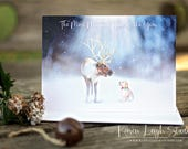 The Magic of Christmas Puppy Art Christmas Card - Set of 25
