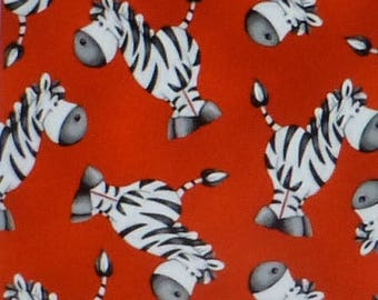 Clearance SALE ABC~123, Zebras on Red~Cotton Fabric, Quilt,by Henry Glass, Fast Shipping CH212