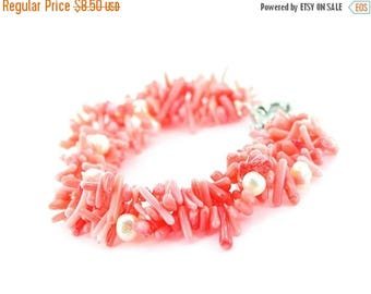 Special Discount Gemstone Pearl Bracelet & chip coral  beads